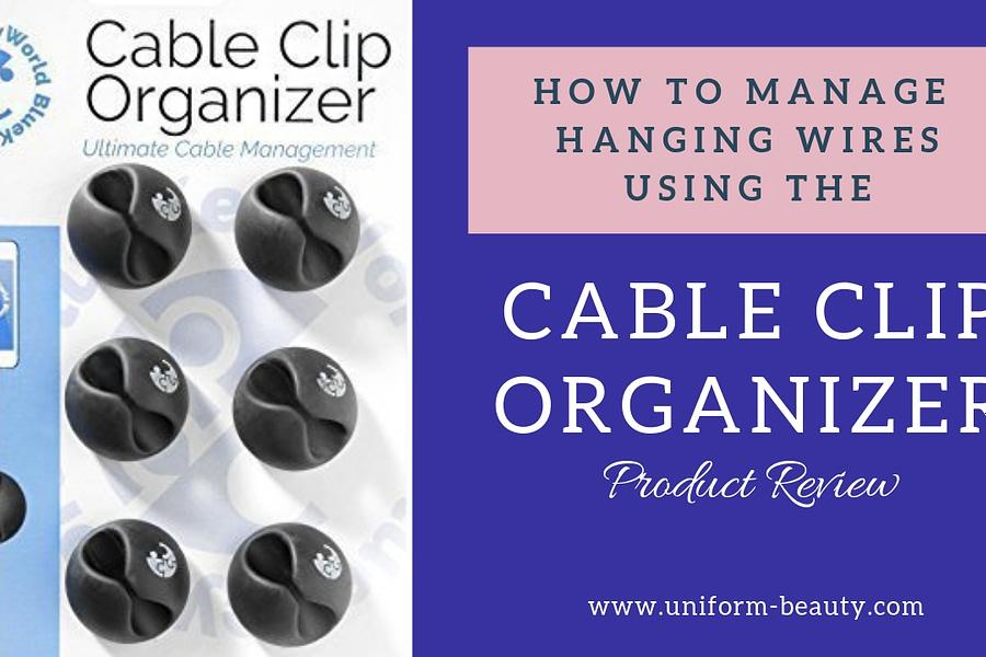 Cable clip organizer