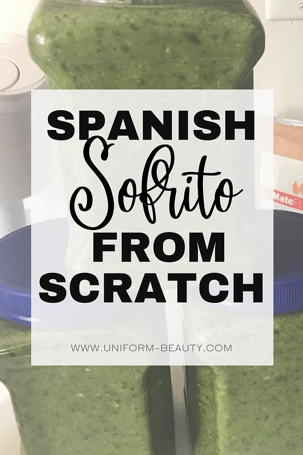 Spanish Sofrito Ingredients