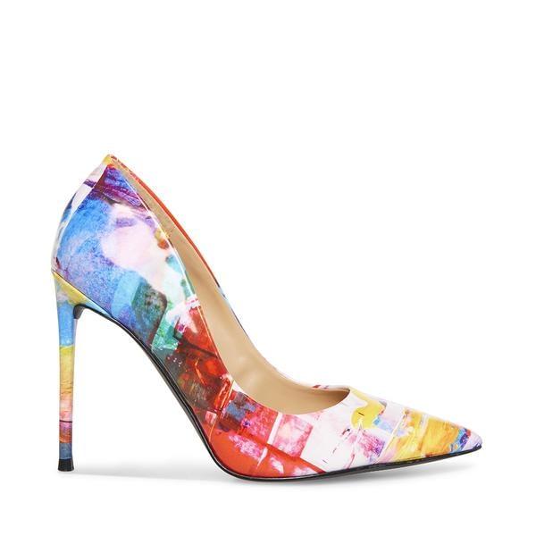 Multi Color Women Heels Pump